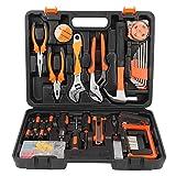 Juego de herramientas 100Pcs/Set Llave Brocas de tornillo Alicates Juego de herramientas de reparación Juego de herramientas de mano con estuche de almacenamiento