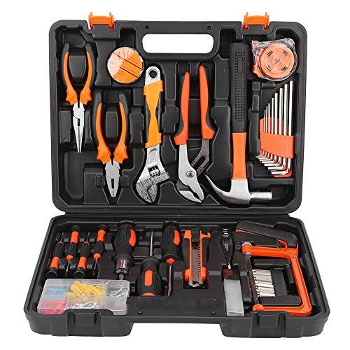 Juego de herramientas de reparación de alicates de brocas de tornillo de llave de 100 unids set Kit de herramientas de mano con estuche de almacenamiento Reparación de vehículos de taller en el hogar