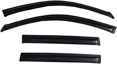 EGR 645191 Dark Smoke Tape-On Window Visors Set of 4 for Toyota Tundra CrewMax