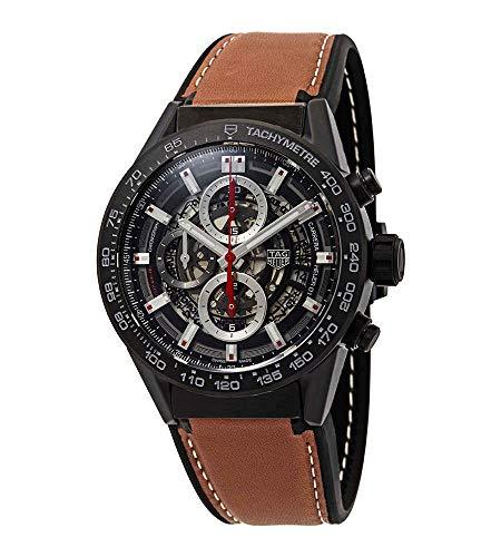 Tag Heuer Carrera Chronograph Automatik Herren Leder Armbanduhr CAR2090.FT6124