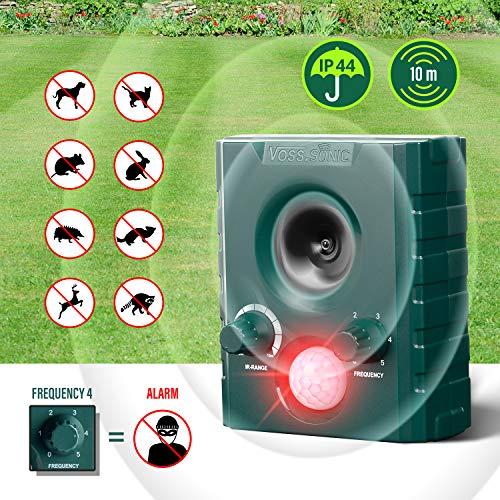 VOSS.sonic 1000 Ultraschallvertreiber Tiervertreiber Ultraschallabwehr Tierabwehr Vertreibung durch Ultraschall und Alarm