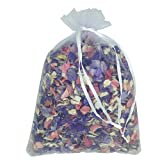 1 Litre of Natural Biodegradable Mixed Colour Delphinium Petals with a White Organza Bag - Wedding Throwing Confetti by Truly Madly Deeply Ltd