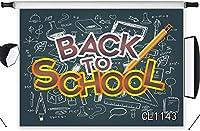 新しい学校に戻る写真の背景7x5ftファブリック鉛筆黒板写真の背景ウェルカムテーマパーティーの装飾キッズ子供ポートレート写真スタジオ小道具洗える