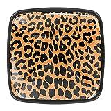 Pomos de cajón con diseño de leopardo, 4 unidades