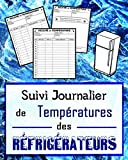Suivi journalier de températures des réfrigérateurs: Pour contrôler chaque jour les bonnes température et conservation de vos produits alimentaires | 120 pages | 20.32 cm x 25.40 cm |