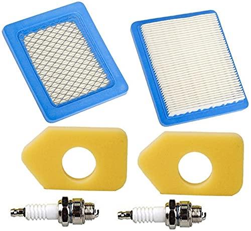 Piezas de repuesto para cortacésped 399959 491588 491588S 4915885 Filtro de aire con filtro de espuma 698369 Spark Plug para Briggs & Stratton 5043B 5043D 5043H 5043K John Deere PT15853 (j