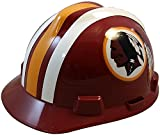 MSA NFL Team Safety Helmets with One-Touch Adjustable Suspension and Hard Hat Tote - Washington Redskins