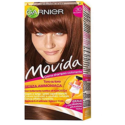 Garnier Movida Crema Shampoo Colorante, 30 Mogano