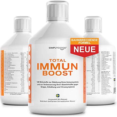 TOTAL IMMUN BOOST - Unterstützung des Immunsystems mit 149 Vitaminen, Mineralien und Antioxidantien - Immunsystem stärken, Verbesserung der Immunabwehr und Unterstützung eines gesunden Atemsystems