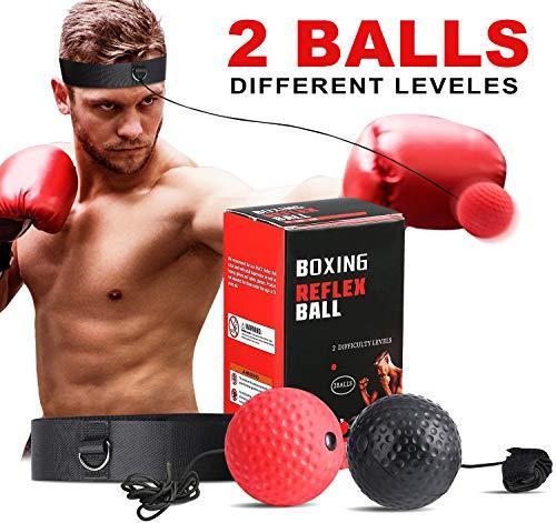 SPECOOL Reflejo de Boxeo Ball, Fight Ball con Diadema Fight