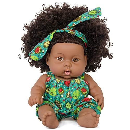 Nice2you Schwarze Mädchen Puppe African American Spielen Puppe 8 Zoll Mode Baby Reborn Puppe