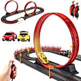 Best Choice Products Electric Slot Car Race Track Set Boy Kids Toy w/ 2 Battery Operated Cars, 2 Controllers,...