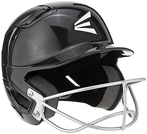 EASTON ALPHA Softball Batting Helmet w/ Softball Mask, TBall/Small, Black