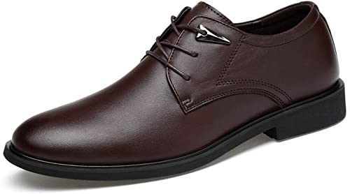 TONGDAUR TONGDAUR Chaussures pour Hommes Oxford décontractée à Bout Rond Classique Classique pour Hommes Chaussures en Cuir pour Hommes