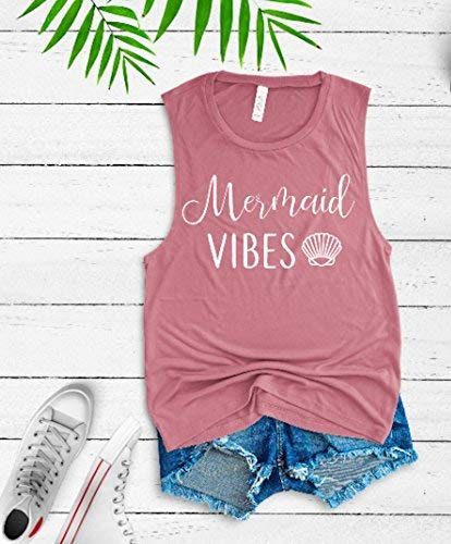 Mermaid tank vacay tee summer tank mermaid vibes mermaid lover cute women's tank
