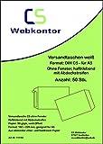 50 Stk. Versandtaschen DIN C5 (162x229 mm) weiß, ohne Fenster, haftklebend mit Abdeckstreifen