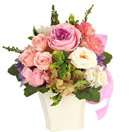 プリザーブドフラワー 枯れない花 オールドローズ ミニバラ ガーデンローズ アジサイ