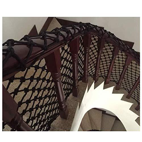 Red de soga de jardín red de seguridad red de carg Red De Cuerda Negra Balcón Red Protectora Malla Tejida Protección For Niños Red De Escalada, Adecuado For Escaleras, Decoración Interior Y Exterior,