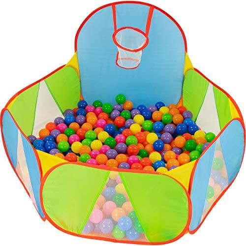 NUBUNI Piscina Palline Canestro Basket : Bambini Recinto per Bambini : Piscina di Palline per Bambini : Parco Giochi Bambini : Giochi Giardino : A Palline Non Incluse