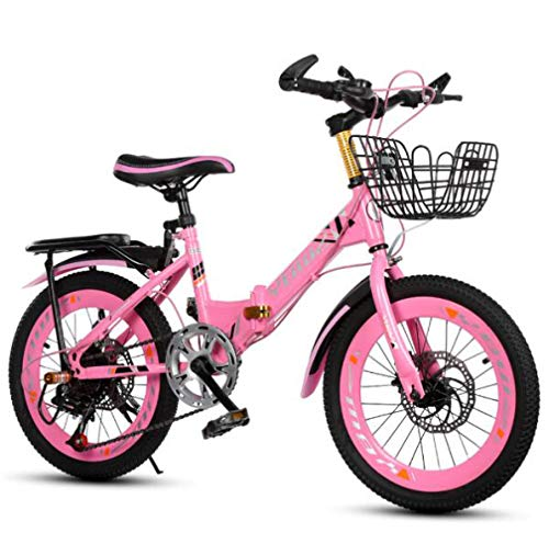 JI TA Bici 24 Pollici Bambino Mountain Bike Pieghevole,Ragazzo Ragazza Bicicletta da Città,Alluminio Bici Pieghevole Leggera 12 kg Unisex City Bike - Regolabile Sella Comoda,6 Singola,Freni