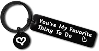 Funny Couple Gifts for Him and Her Boyfriend Girlfriend Keychain Naughty Gifts for Wife Husband Couple Jewelry Valentines ...
