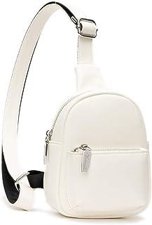 PORRASSO Damen Brusttasche Mode Sling Bag Mädchen Wasserdicht Schultertasche Leder Crossbody Umhängetasche Sling Bag für R...