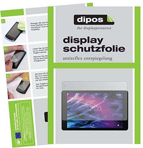 dipos I 2X Schutzfolie matt kompatibel mit Medion Lifetab P10602 / P10605 / X10605 / X10607 Folie Bildschirmschutzfolie