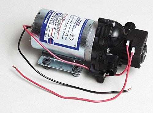 "Pentair SHURflo 2088-343-135 Automatic-Demand Diaphragm Pump, 3.0 GPM With Viton Valves, Santoprene Diaphragm, 40 PSI Demand Switch, 12V, 1/2"" MSPT Male Port"