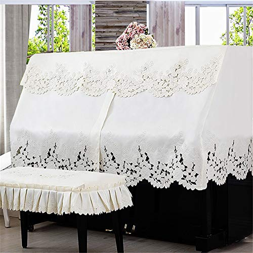 Piano Lace Dust-proof Handdoek kant borduren stof Piano Dust Half Cover Elegant Options Piano Hoes (Color : D, Size : L)