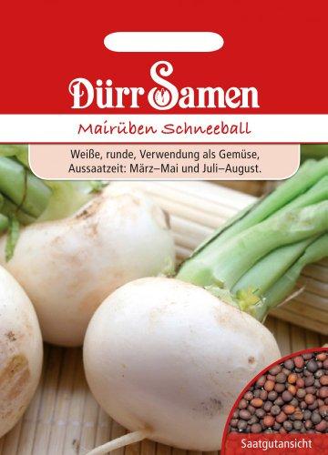 Rübensamen - Mairüben Schneeball von Dürr-Samen