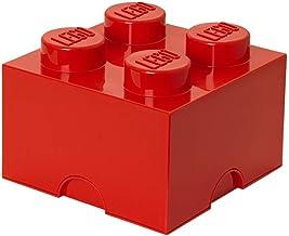 LEGO Storage Brick 4, Bright Red, 4 Knobs