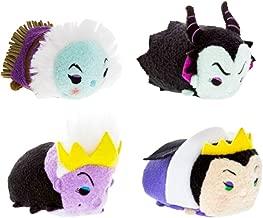Disney Villains Party Favors Pack - Set of 4 Villains Tsum Tsum Plush Toys (Party Supplies) (Plush Set)