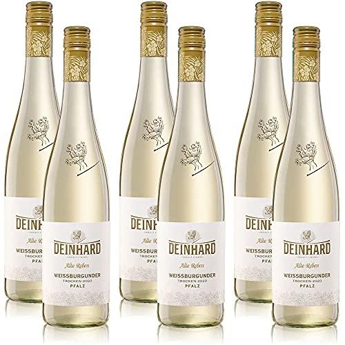 6 Flaschen Weisswein Deinhard Weissburgunder Pfalz Alte Reben QbA, trocken, sortenreines Weinpaket (6x0,75l)