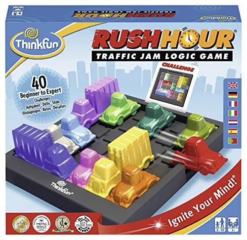 Think Fun 76336 Rush Hour, Juego de Logica, Version en Español, Edad Recomendada 8+