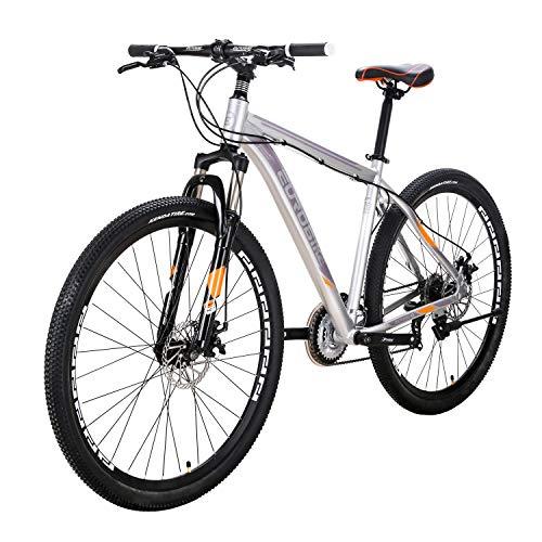 マウンテンバイク EUROBIKE アルミフレーム X9-21段 ハードテイル29インチ MTB 前後ディスクブレーキ器 変速21速 超軽量 通勤 学習 乗ろう自転車 銀