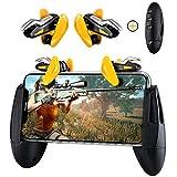 Qoosea Controladores de Juegos móviles Gamepad, L1R1 Triggers de Teléfonos Móviles Botón, Sensitive Shoot Objetivo Joysticks Aim & Fire Trigger Keys for PUBG/Knives out