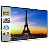 Savsol Projector Screen, Eyelet Screen (6 ft. (W) x 4 ft. (H)