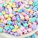 Concord 100 grams Pastel Star Plastic Beads 10mm