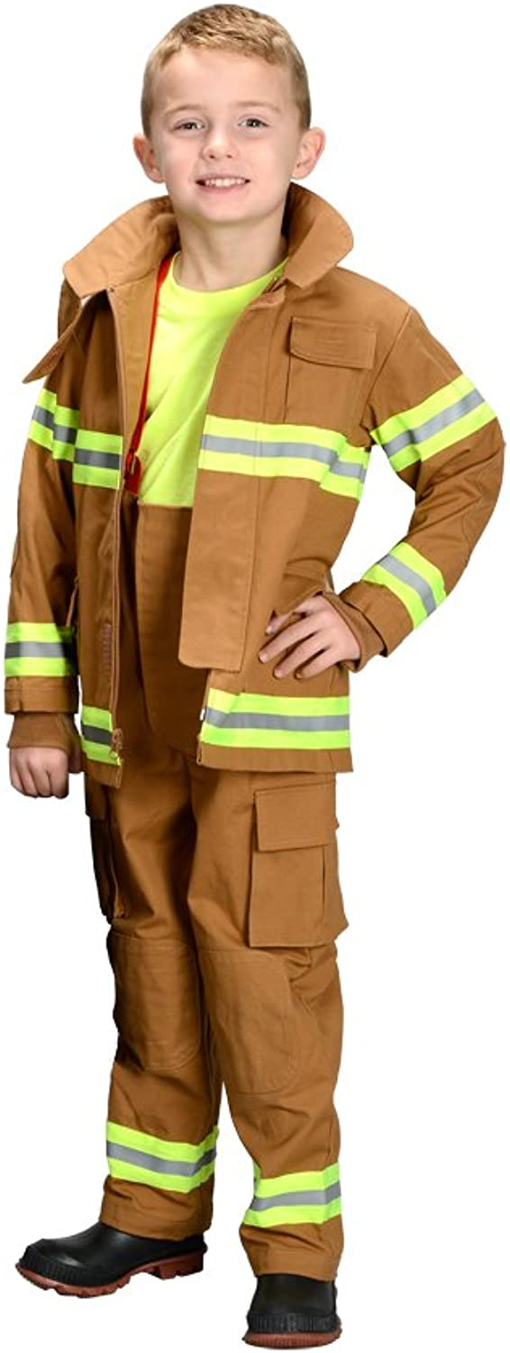 (12   14, Tan) - Aeromax Jr. NEW YORK Fire Fighter Suit, Tan, Größe 12 14. The Beste 1 Award Winning firefighter suit. The most realistic bunker gear for kids everywhere. . the real gear B01AC0LJ5C  Niedriger Preis  | Elegant