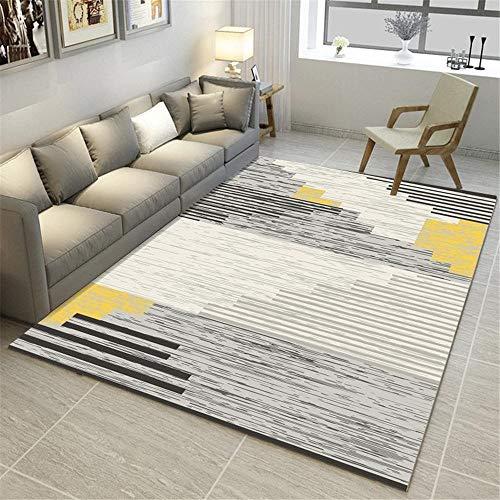 tappeto giochi neonato grigio Tappeto da salone in stile moderno tappeto sfocato motivo gessato anti-acaro tappeti camera letto 160X230CM tappeto ingresso casa interno 5ft 3''X7ft 6.6''