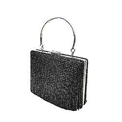 Black Rhinestomes Handbag Clutch