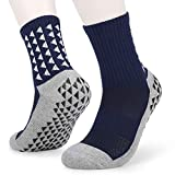 Lixada 1 Pares/3 Pares Calcetines de Fútbol Antideslizantes para Hombre Calcetines Largos Atléticos Calcetines Deportivos Absorbentes para Baloncesto Voleibol Correr Trekking Senderismo