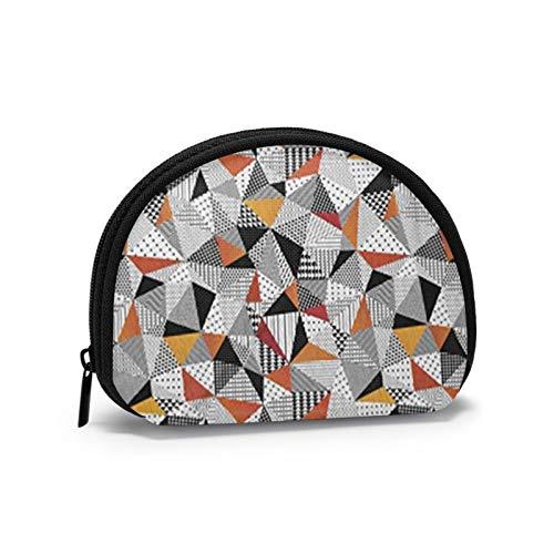 Portage kleine Geldbörse Tasche mit Reißverschluss, Mosaik-Muster der kaputten Fliese Mini-Kreditkarten-Brieftasche und Cash Organizer für den täglichen Gebrauch