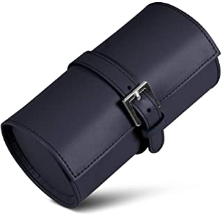 (Navy Blue) - Lucrin - Travel watch case - Smooth Leather