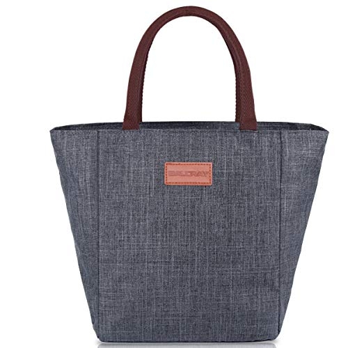 BALORAY Lunch Bag Tote Bag Lunch Organizer Lunch Holder Lunch Container (G-199L Grey)