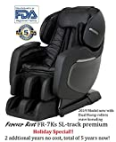 Finally ON Amazon! The 2018 FOREVER REST FR-7Ks Premium L-Track Smart Massage Chair with Triple Foot Rollers, Zero Gravity Sliding Technology, Yoga Stretch, Swing Mode, Bluetooth Speakers. (Black)