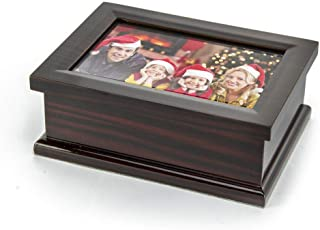 Sophisticated Modern 4 X 6 Photo Frame Musical Jewelry Box - Congratulations