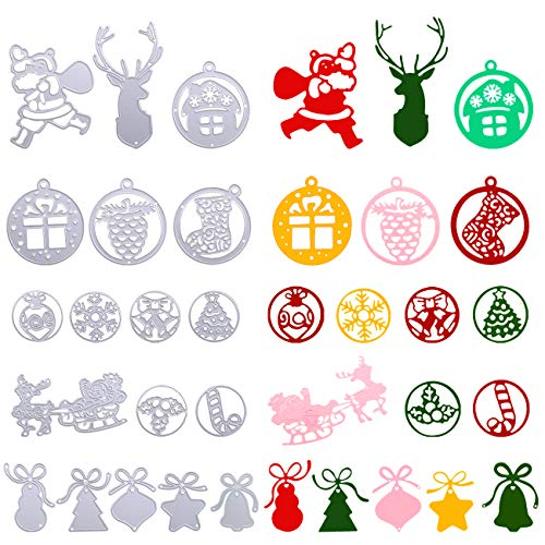 Kesote 18 Troqueles Navidad Troqueles de Corte Metal Troquel Scrapbooking para Álbumes de Recortes Tarjeta Papel Manualidades