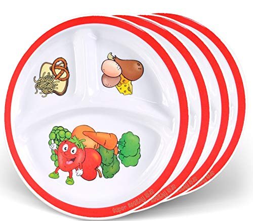 Health Shopping Health Beet Portion Control Plate for Kids, Toddlers –