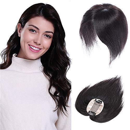 Toupet Volumateur Cheveux Naturelle Femme Rajout Cheveux Naturel Clip Vrai Cheveux Silk Base Hair Toppers Human Hair, 12\